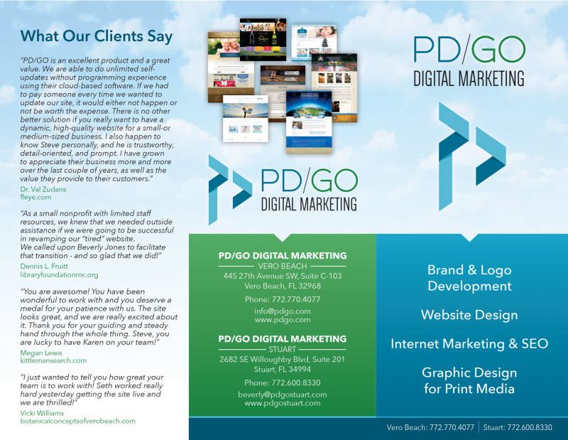 PD/GO Trifold Brochure Outside